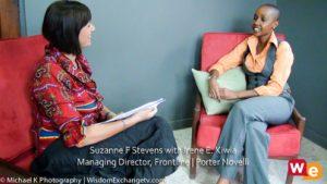 Irene E. Kiwia with Suzanne F. Stevens