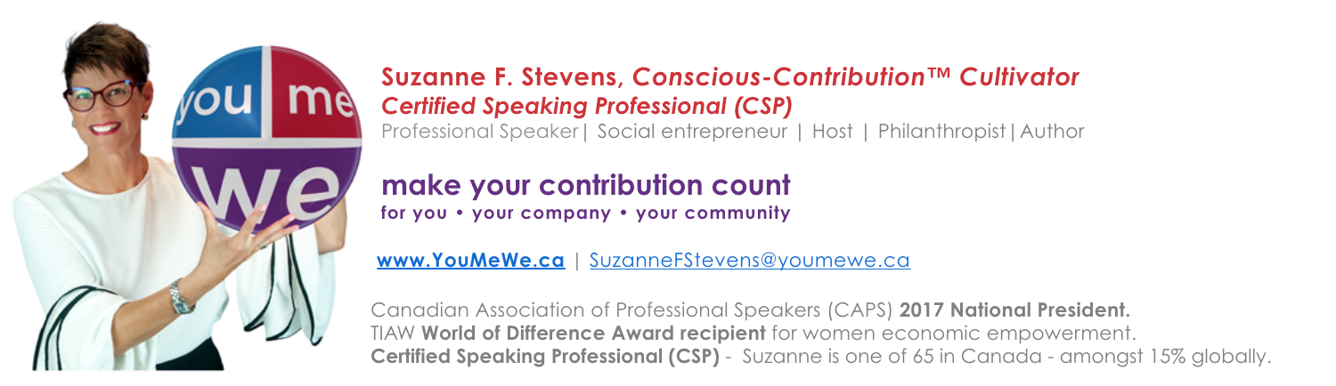 Suzanne F. Stevens - make your contribution count